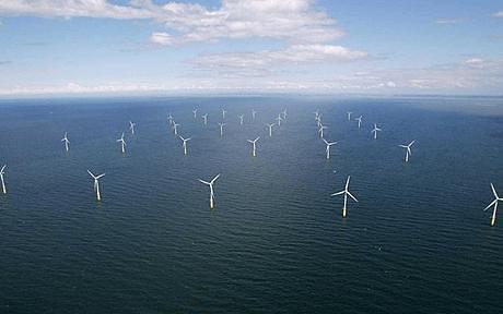 Větrný park. Zdroj: www.telegraph.co.uk