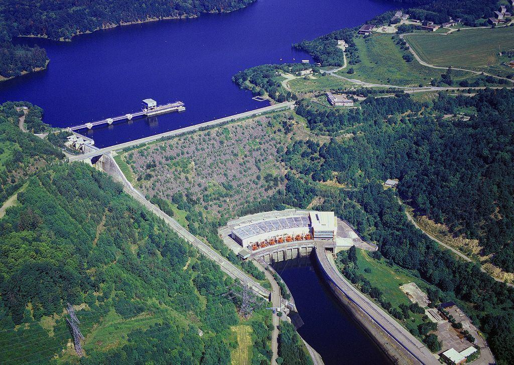 Přečerpávací vodní elektrárna Dalešice. Zdroj: ČEZ