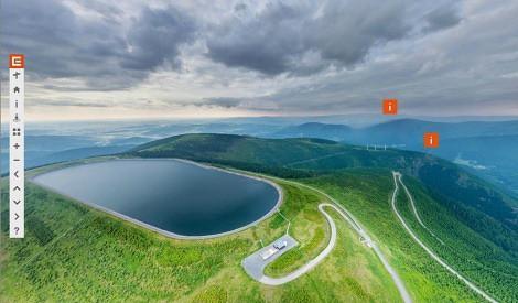 Virtuální prohlídka přečerpávací vodní elektrárny Dlouhé Stráně. Zdroj: ČEZ