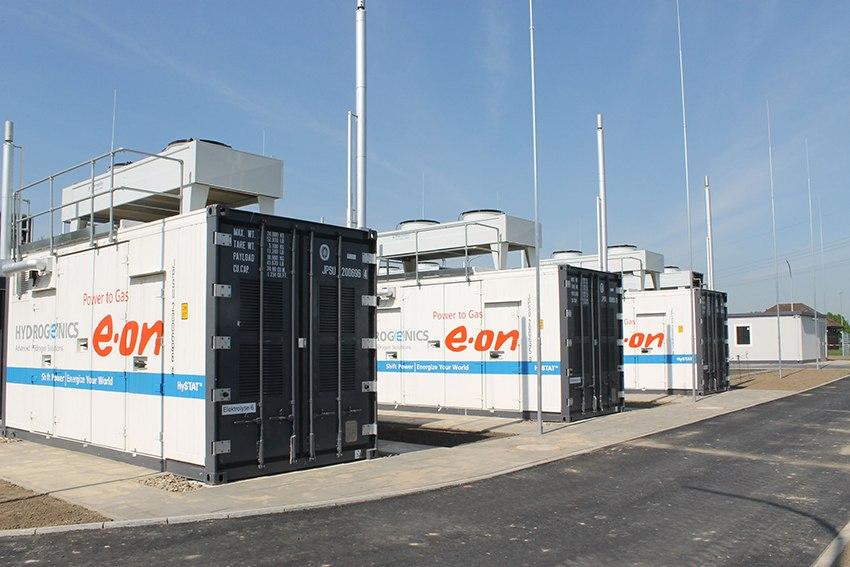 Projekt P2G E.ONu ve Falkenhagenu v Německu. Zdroj: eon