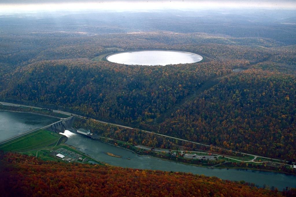Přečerpávací vodní elektrárna Seneca v Pensylvánii. Zdroj: Margaret Luzier