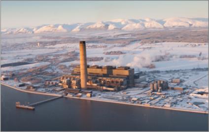 Uhelná elektrárna Longannet je 2. největší uhelnou elektrárnou v Anglii Zdroj: scottishpower.com