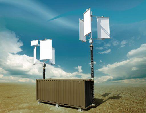 Takto vypadá složená větrná elektrárna od společnnosti Simetti. Zdroj: http://www.msline.cz/
