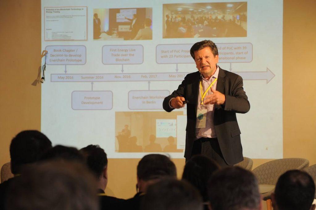 Michael Merz ze společnosti Ponton na konferenci Share Your Energy