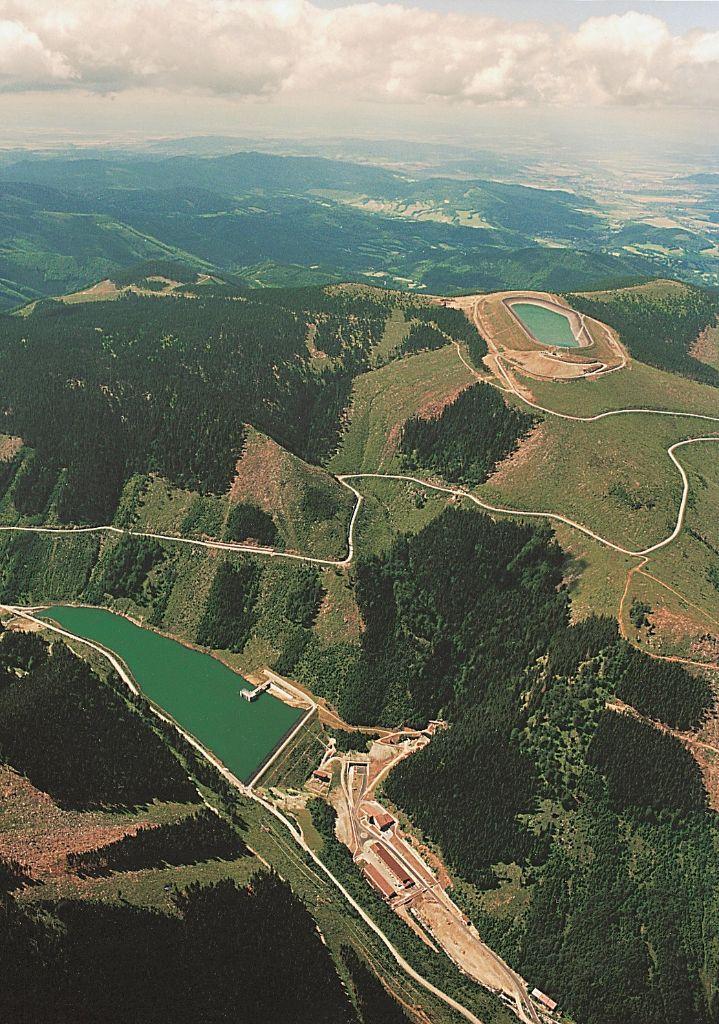 Přečerpávací vodní elektrárna Dlouhé Stráně. Zdroj: ČEZ