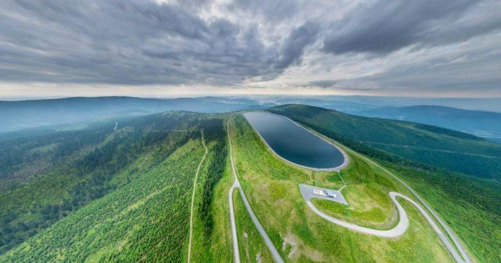 Přečerpávací vodní elektrárna Dlouhé Stráně, horní nádrž- Zdroj: ČEZ
