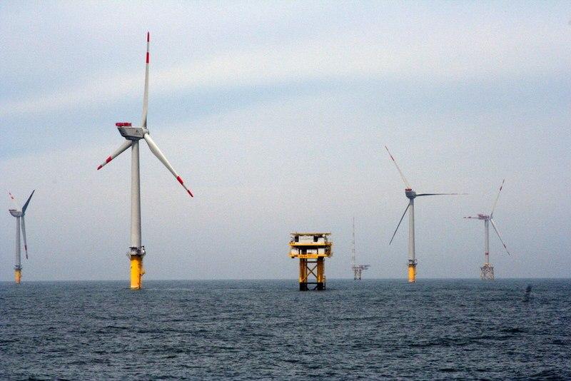 Offshore větrný park Alpha Ventus, Německo. Zdroj: ENERGY.GOV