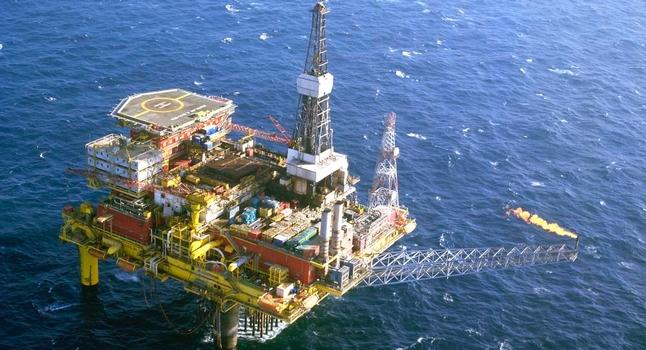 ropná plošina severní moře