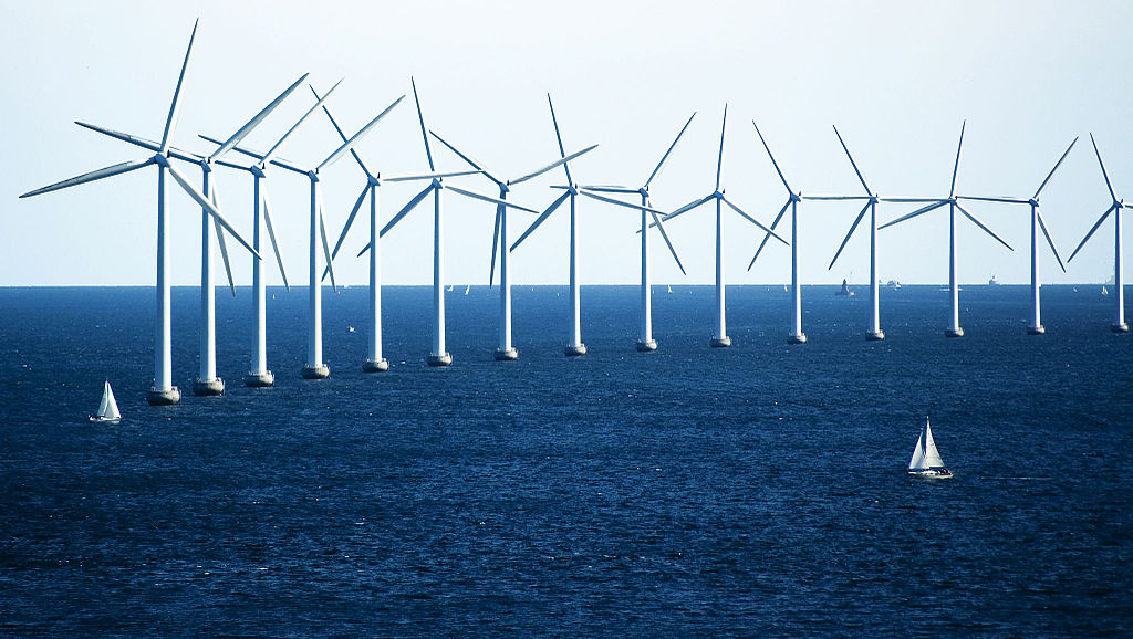 Offshore větrný park v Kodani. Autor: CGP Grey