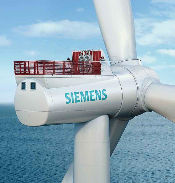 Ilustrční foto: Vzhled hotové gondoly Siemens Offshore wind D7 platform vyráběné v nové továrně v Cuxhavenu