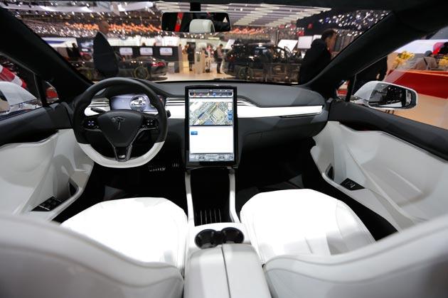 Interiér Tesly Model X