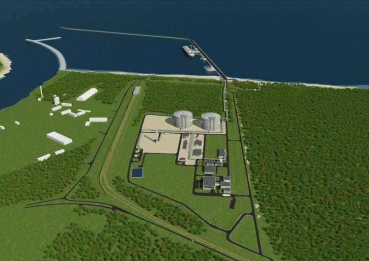Podoba terminálu na LNG ve Svinoústí. Ilustrační foto
