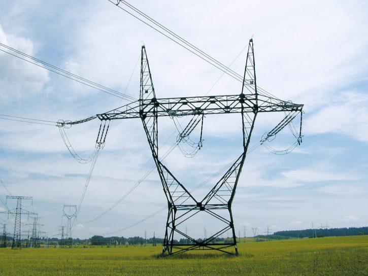 Elektrické vedení. Zdroj: ČEPS