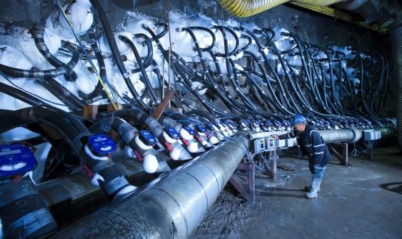 Těžba v největším uranovém dole na světě, McArthur River. Zdroj: cameco.com