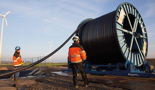 HVDC kabel pro vedení SuedLink