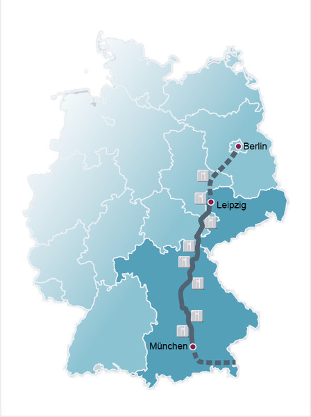 """Koridor rychlonabíjecích stanic """"Elektromobilita spojuje"""" mezi Berlínem a Mnichovem"""