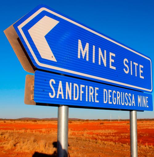 Důl DeGrussa ve východní Austrálii bude disponovat největší hybridní FV-diesel elektrárnou na světě. Zdroj: JuWi