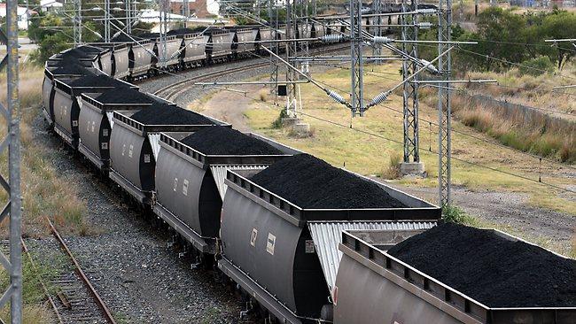 Doprava uhlí  vlakem