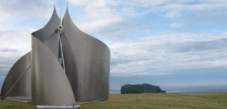 Pohled na turbínu IceWind CW-1000. Ilustrační foto