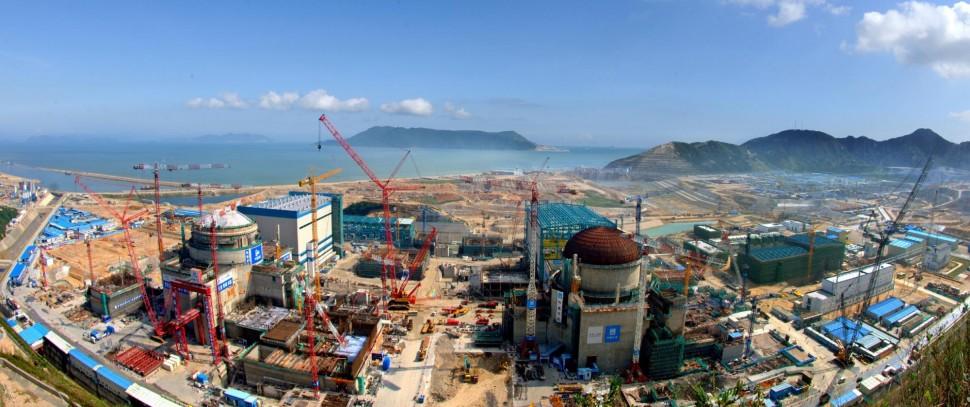 Výstavba dvou bloků elektrárny EPR v čínském Taishanu.