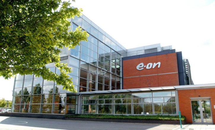 (Photo shoot No: 0704-074) E-on branding at Westwood Headquarters in Coventry.