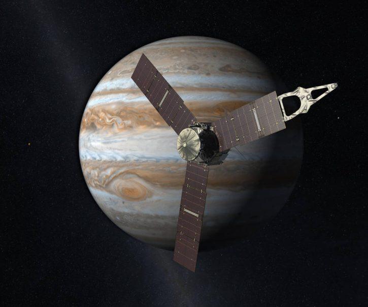 Vesmírná sonda Juno agentury NASA. Zdroj: NASA