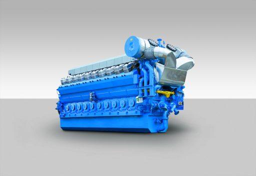 Motoro společnosti Rols-Royce typ B35:40V20AG. Třináct těchto motorgenerátorů pohání 100 MW elektrárnu v Mozambiku.