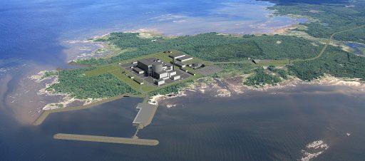Vizualizace finální podoby jaderné elektrárny Hanhikivi. Zdroj: powermag.com