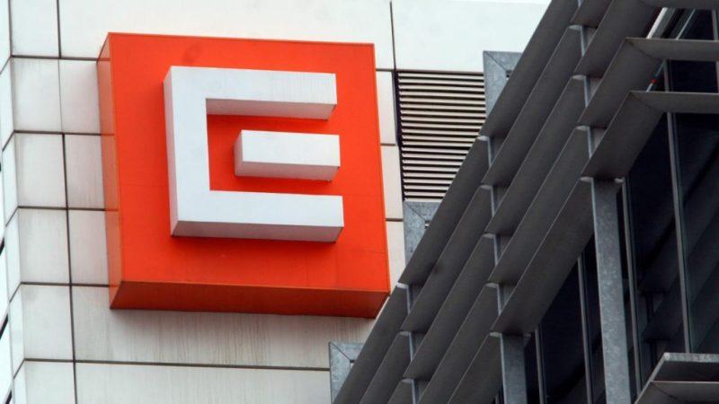 ČEZ budova logo