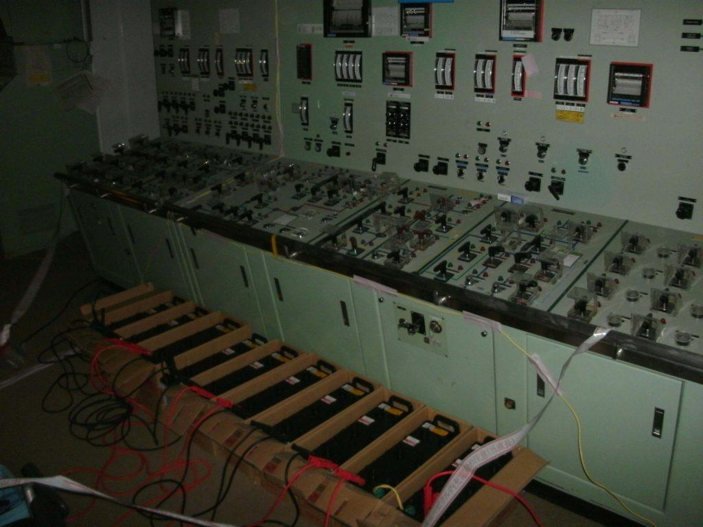 Improvizované napájení panelů po ztrátě všech zdrojů energie; Zdroj: TEPCO