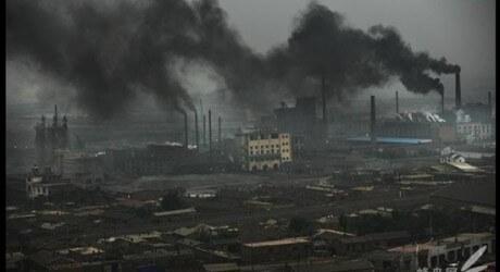 "Uhelná elektrárna v Číně, zdroj: Ari Phillips, ""ThinkProgress"