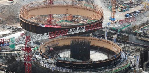 Výstavba elektrárny Taishan-1; Zdroj: MAAE