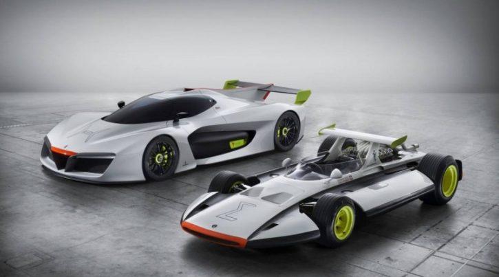 Pininfarina H2Speed ve společnosti závodního Sigma Grand Prix, zdroj: autoblog.de