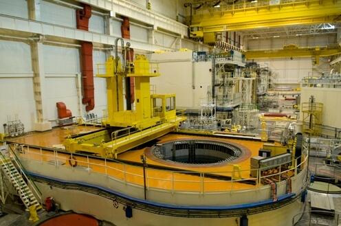 Pohled na otevřený reaktor. Zdroj: ČEZ