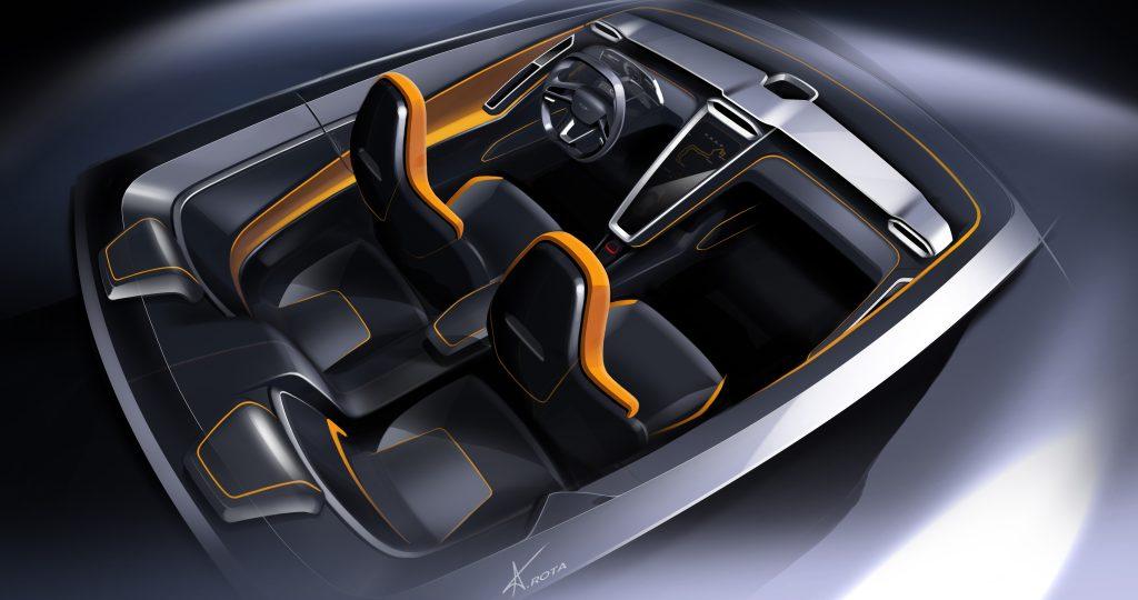 Interier konceptu GTZero od karosárny Italdesign na autosalonu v Ženevě 2016, zdroj: paultan.org