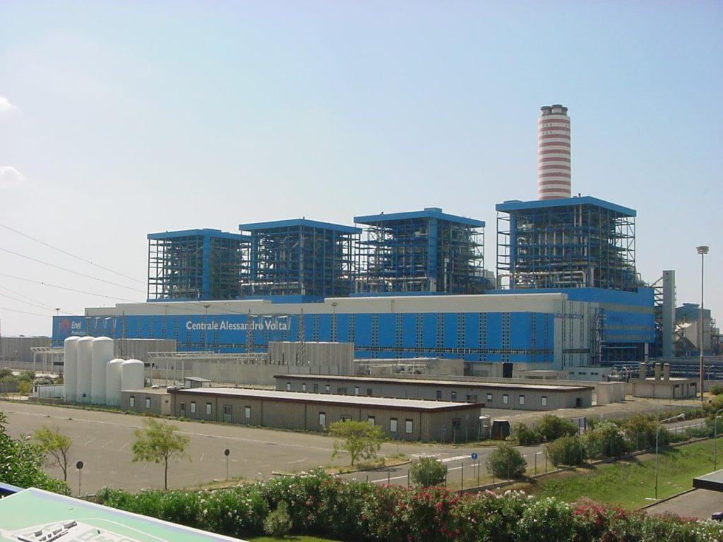 Paroplynová elektrárna Alessandro Volta o výkonu 3600 MW