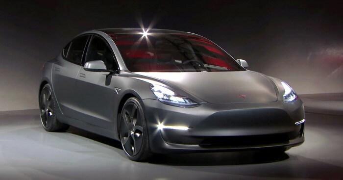 Představení Tesla Model 3 v Los Angeles, zdroj: teknikensvarld.se