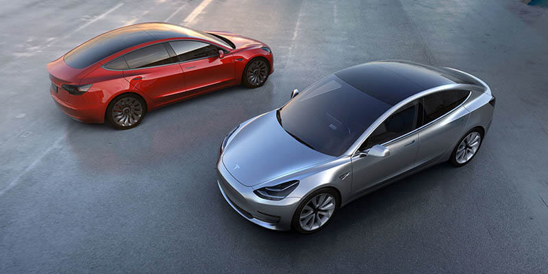 Tesla Model 3, zdroj: Tesla