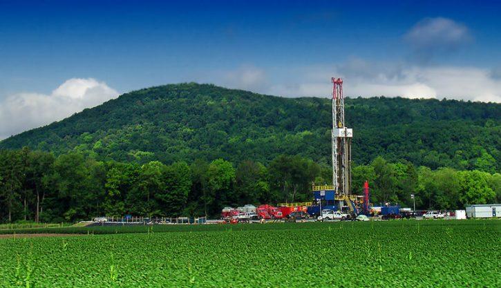 Vrt pro těžbu břidlicového plynu