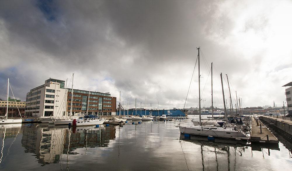 Nová čtvrť Lindholmen v Göteborgu postavená na místě původních doků. Foto: Tomáš Jirka
