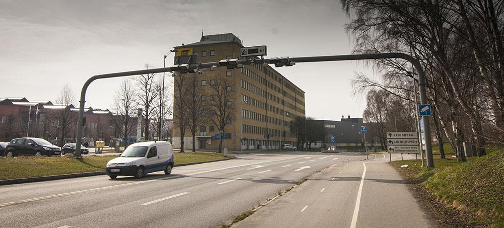 Brána pro placení mýtného při vjezdu do centrálních částí Göteborgu. Foto: Tomáš Jirka