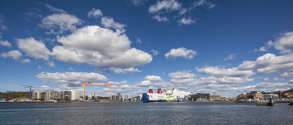 Přístav v Göteborgu a čtvrť Eiksberg - bývalé doky. Foto: Tomáš Jirka