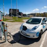 Nissan LEAF zapůjčený od švédské půjčovny elektromobilů MoveAbout.se, foto: Tomáš Jirka