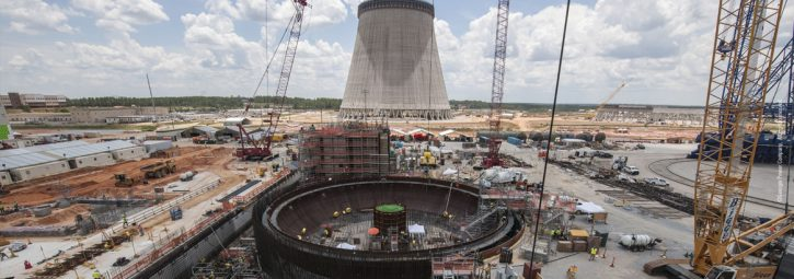 Výstavba jaderné elektrárny Vogtle; Zdroj Westinghouse nuclear