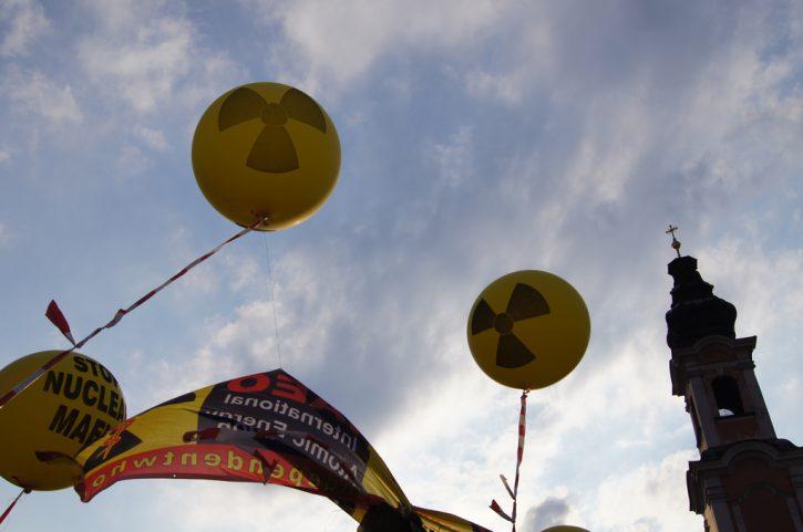 Protijaderný protest v Rakousku
