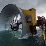 U francouzského pobřeží byla instalována druhá podmořská přílivová turbína