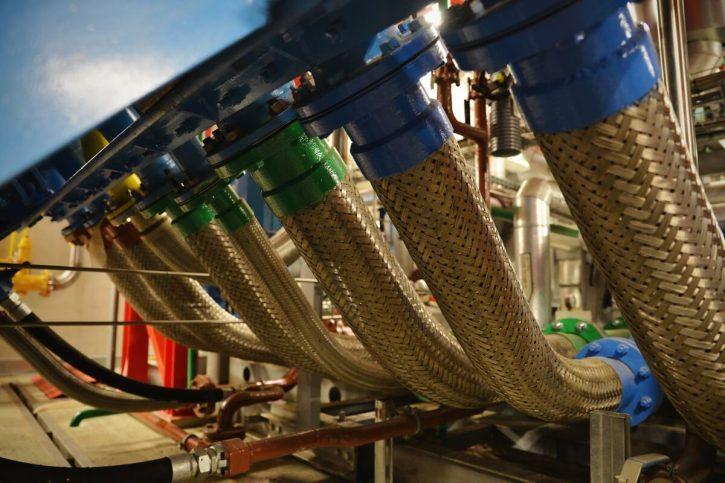 Plynový motor vyvedení tepla