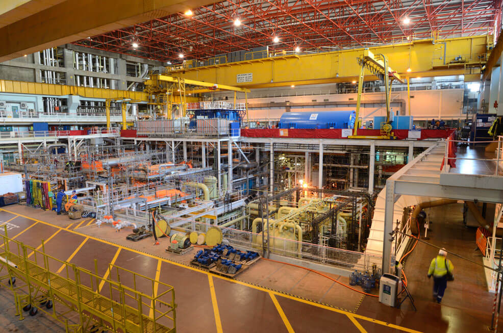 Strojovna elektrárny Heysham B
