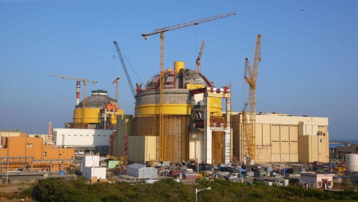 Výstavba nových indických reaktorů JE Kudankulam. Zdroj: wikimedia.org