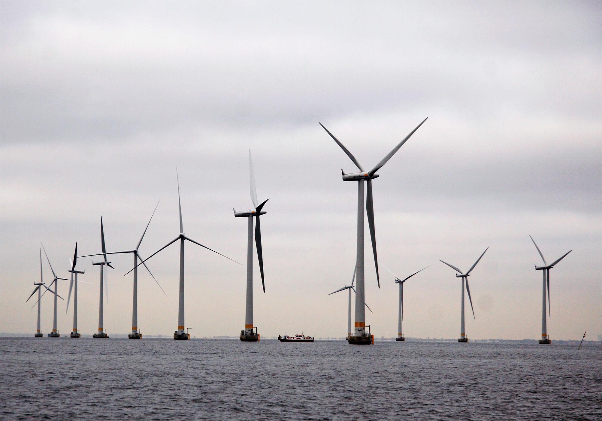 Větrná farma Lillgrund nacházející se v Dánsku mezi Malmö a Kodaní. Zdroj: Vattenfall